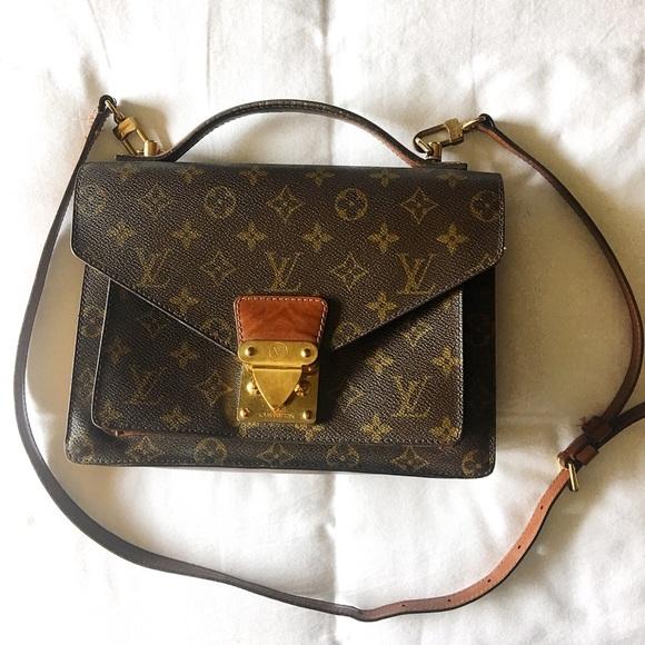 19ee0f01466a Louis Vuitton Handbags - Vintage 1990s Louis Vuitton Monceau Crossbody